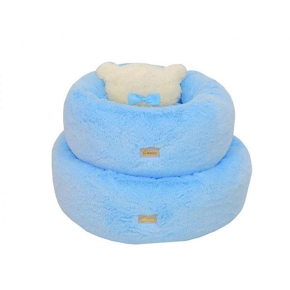 Cama Ninho Bear com Pelo Pata Chic - Azul