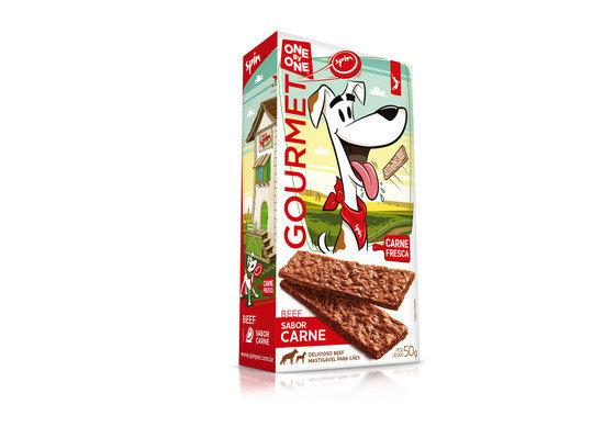 Petisco Bifinho Gourmet Spin Pet One by One Carne e Frango