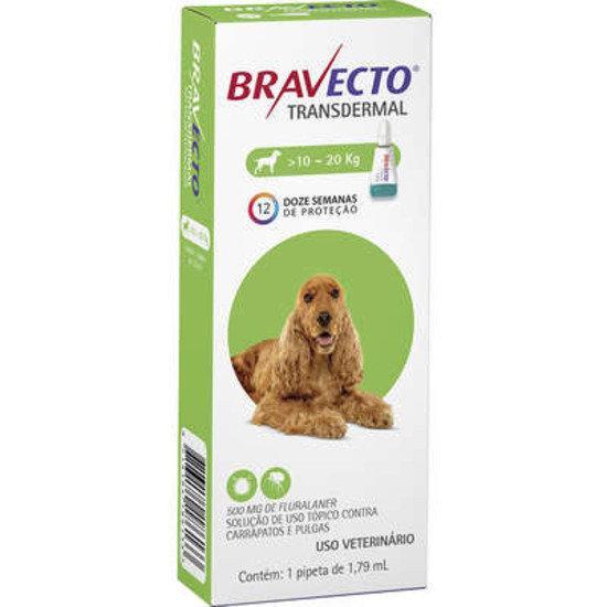 Antipulgas Bravecto Transdermal 500mg Cães 10 a 20kg