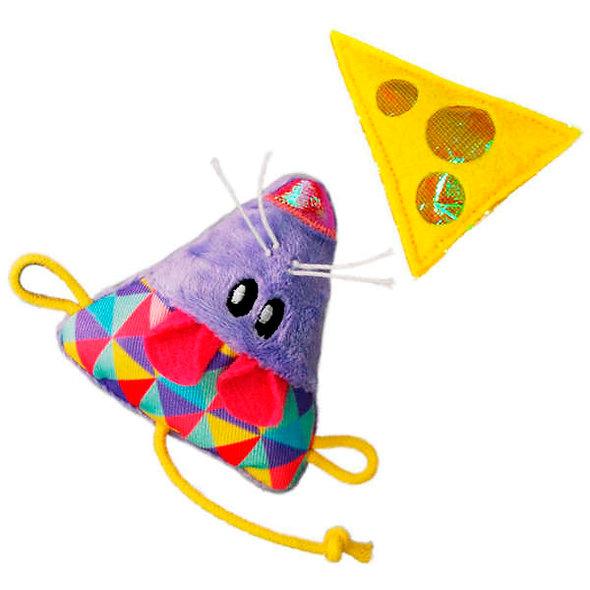 Brinquedo KONG Crackles & Cheez Mouse 2-pk