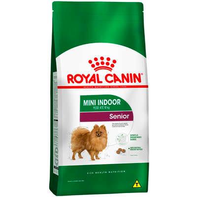 Ração Seca Royal Canin Mini Indoor Senior para Cães de Raças Pequenas com 8 Anos