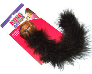 Bolinha de Pelúcia Kong Wild Tails para gatos Preta