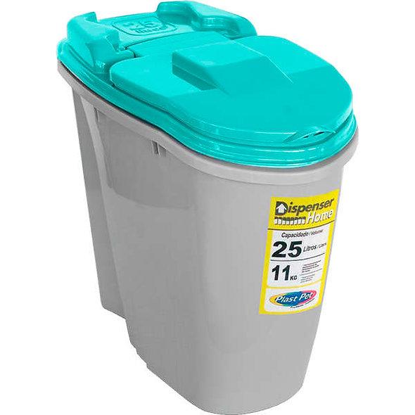 Porta Ração Dispenser Home Azul Plast Pet
