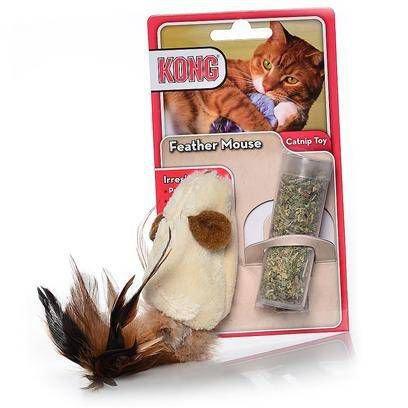 Brinquedo para Gatos Feather Mouse Kong