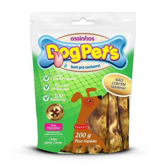 Ossinhos DogPets Chips Carne Cães