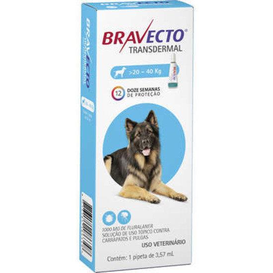 Antipulgas Bravecto Transdermal 1000mg Cães 20 a 40kg