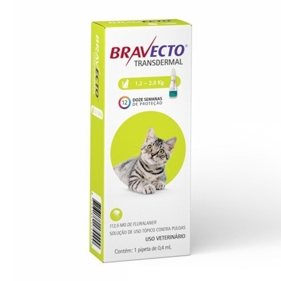Antipulgas Bravecto Transdermal 112,5mg Gatos 1,2 a 2,8kg