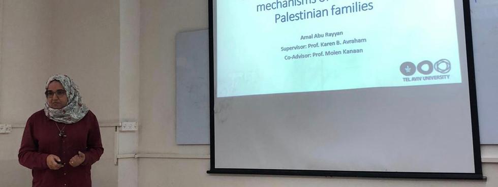 Amal Abu-Rayyan presenting her seminar