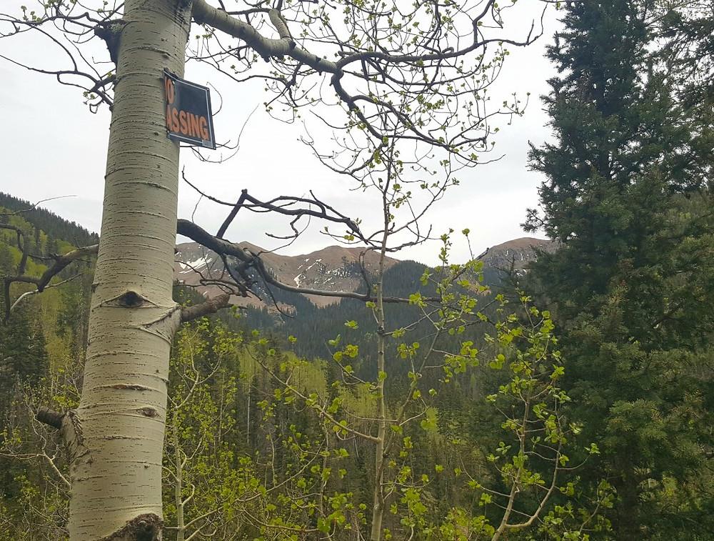 No trespassing - La Plata Mountains