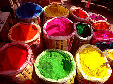 This is a Holi shop in India