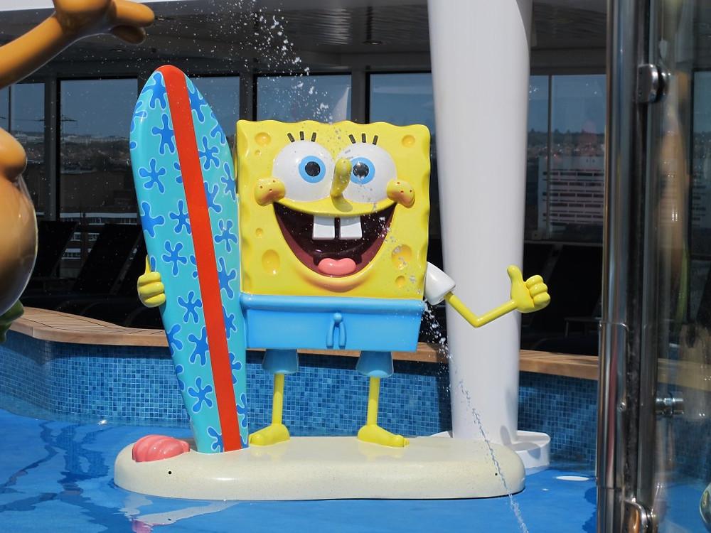 Sponge Bob Square Pants on Norwegian Cruise Line's Getaway