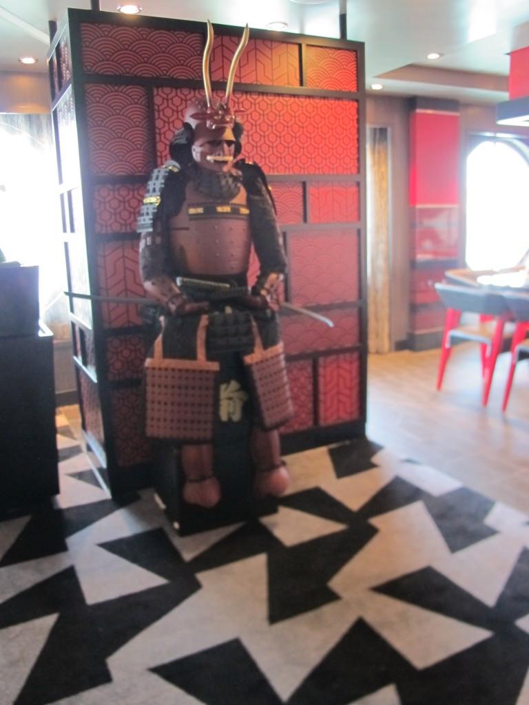 Samurai Soldier at Izumi Sushi Bar