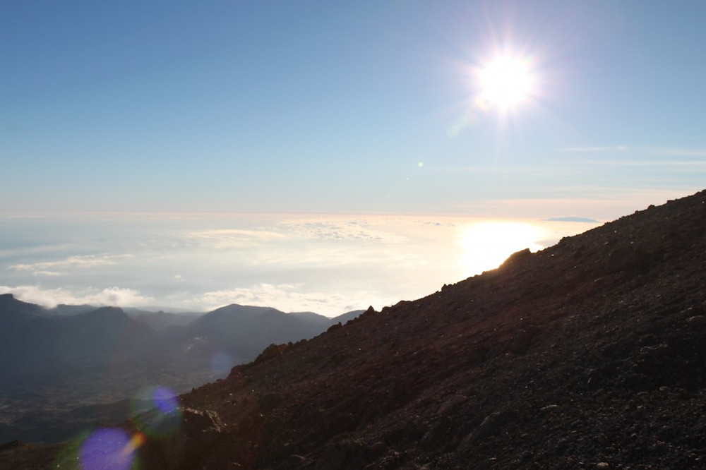 Sunset from Mt. Tiede