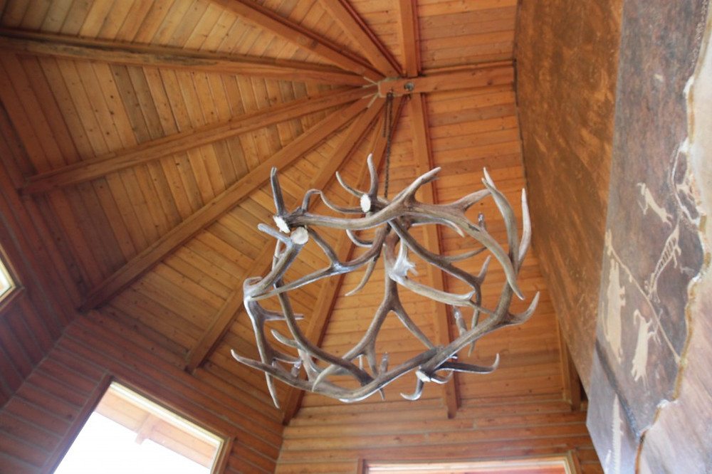 Antler chandelier at Castle Valley Outdoors.