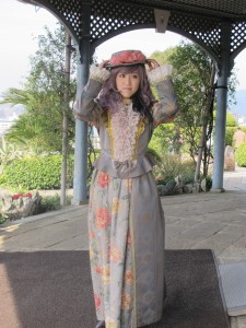 Young girl dress in Victoriana in Hiroshima