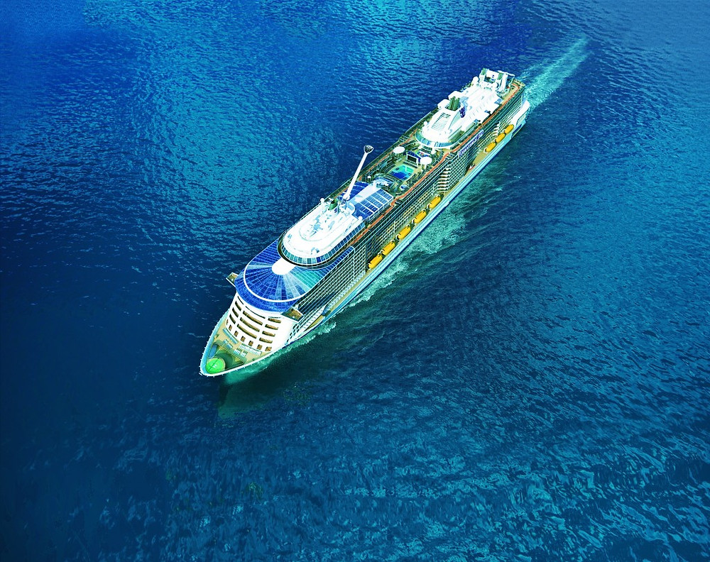 Quantum of the Seas with North Star arm protruding
