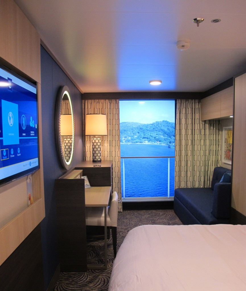 Is it the Bahamas?  No, its a virtual balcony for an inside stateroom