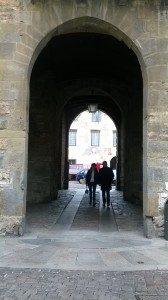 Through the archway of the Piazza Vecchia