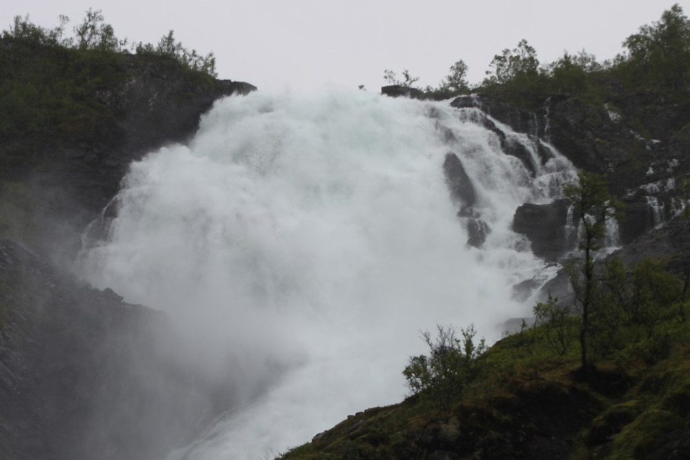 Voss Waterfall, on railway from Myrdal Station