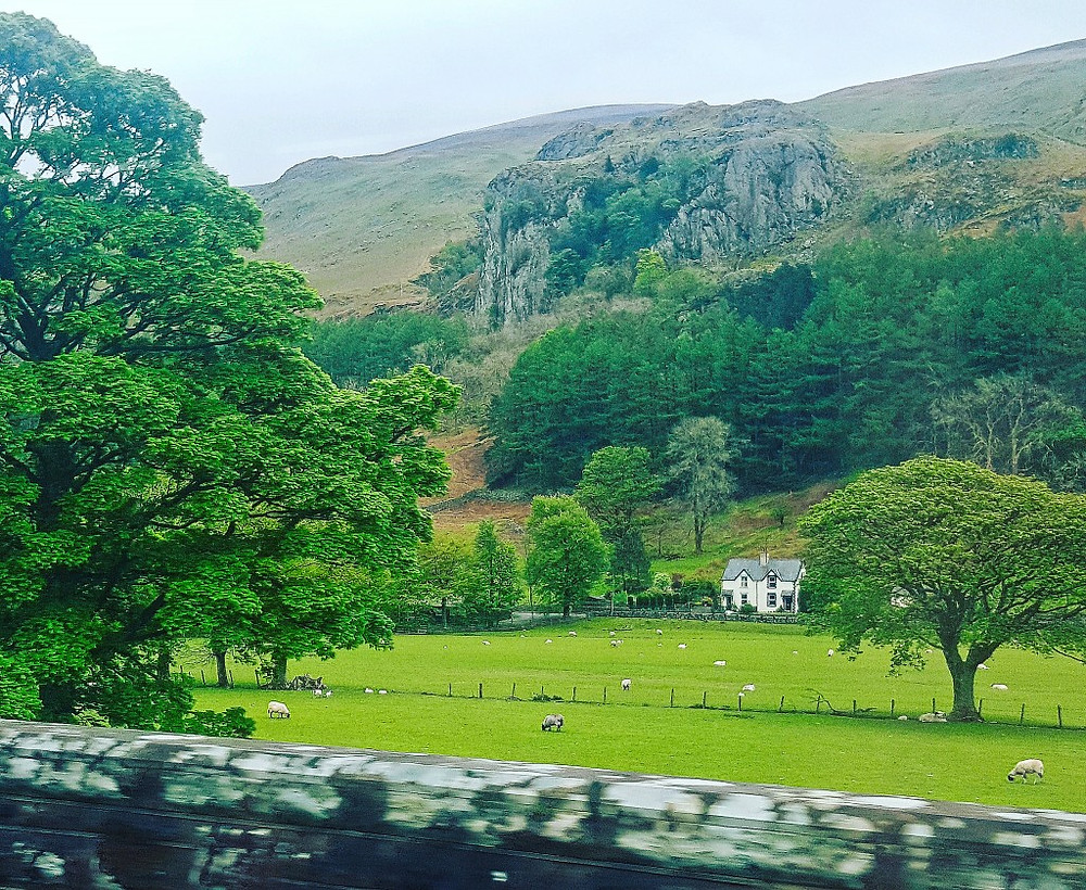 Lake District. Photo taken from the bus.