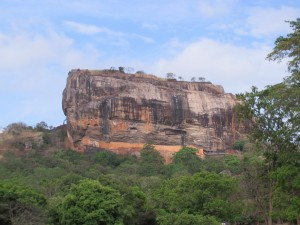 Sigiriya is a rock fortress and soars 660ft into the sky