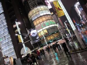 Tokyo on a rainy night