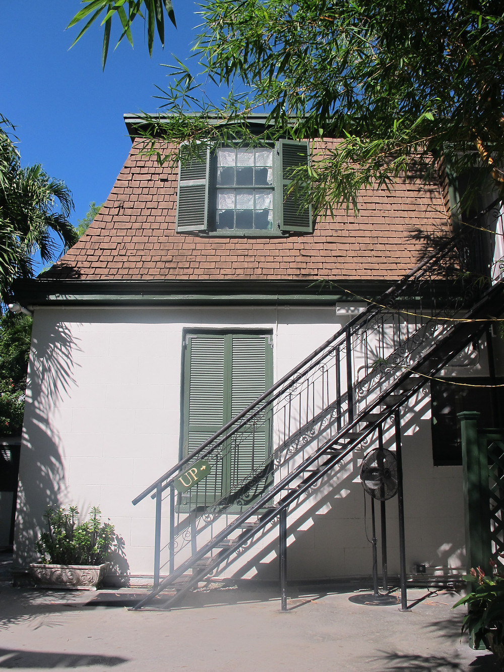 Ernest Hemingway's writing studio in Key West.
