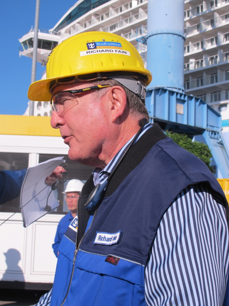 Richard Fain, Chairman and CEO of Royal Caribbean Cruise Lines, leads our tour of Quantum of the Seas