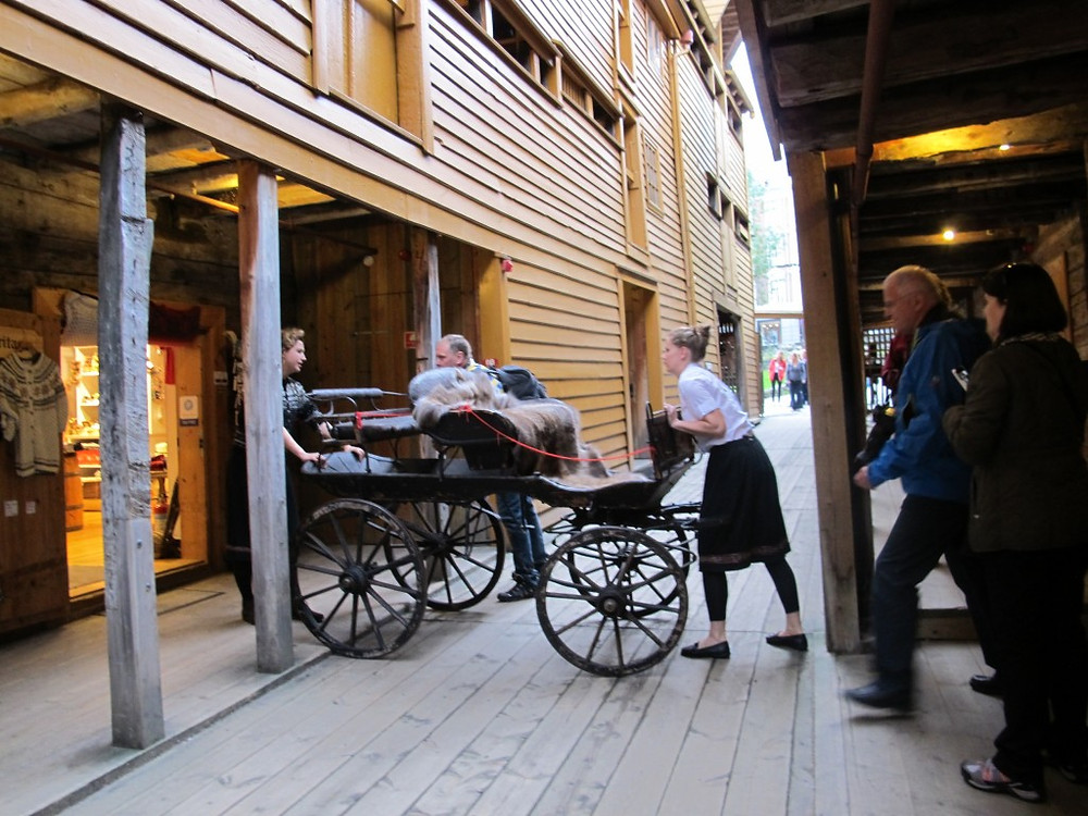 Old styled Norwegian carriage, Bergen