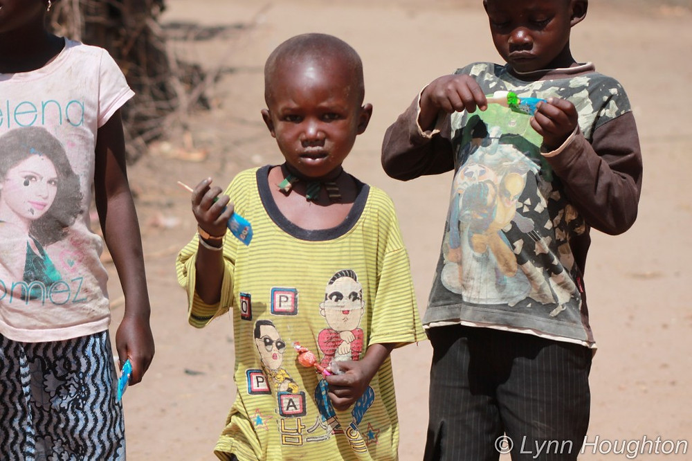 Village children in The Gambia