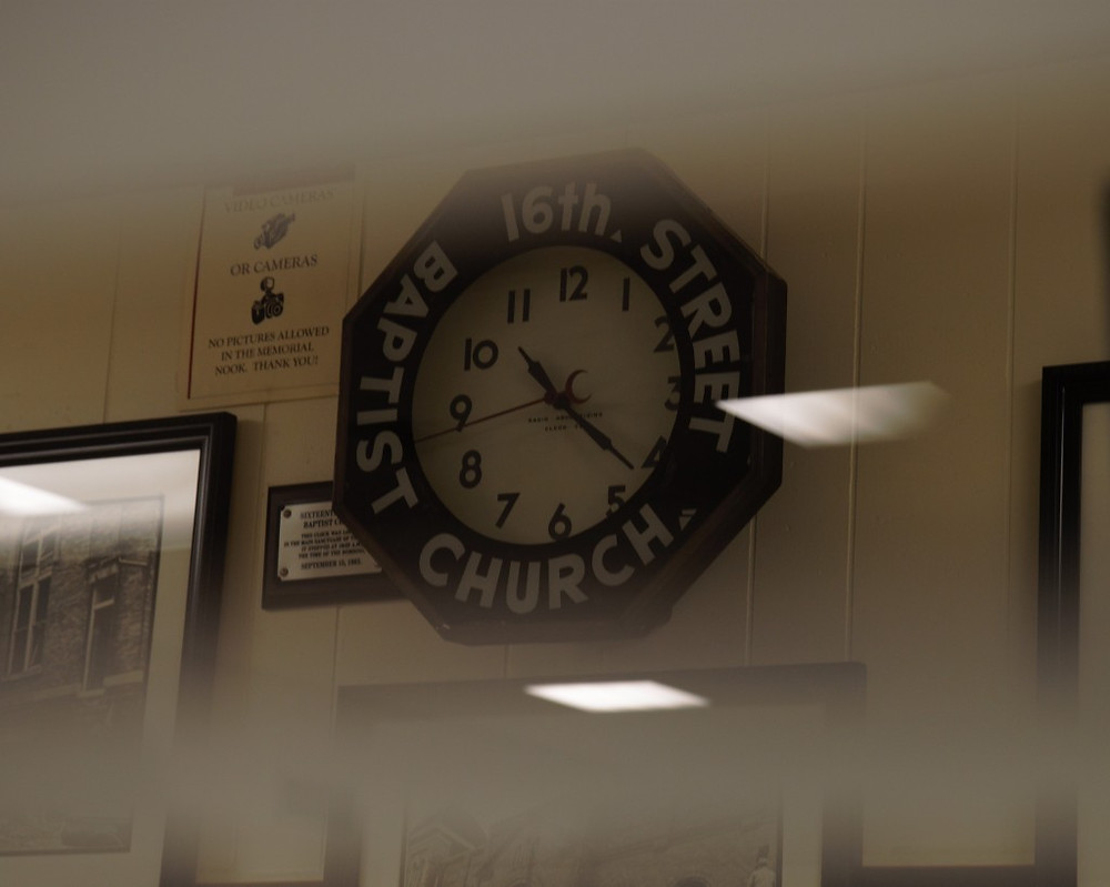 6th Ave. Baptist Church and the clock that stopped.