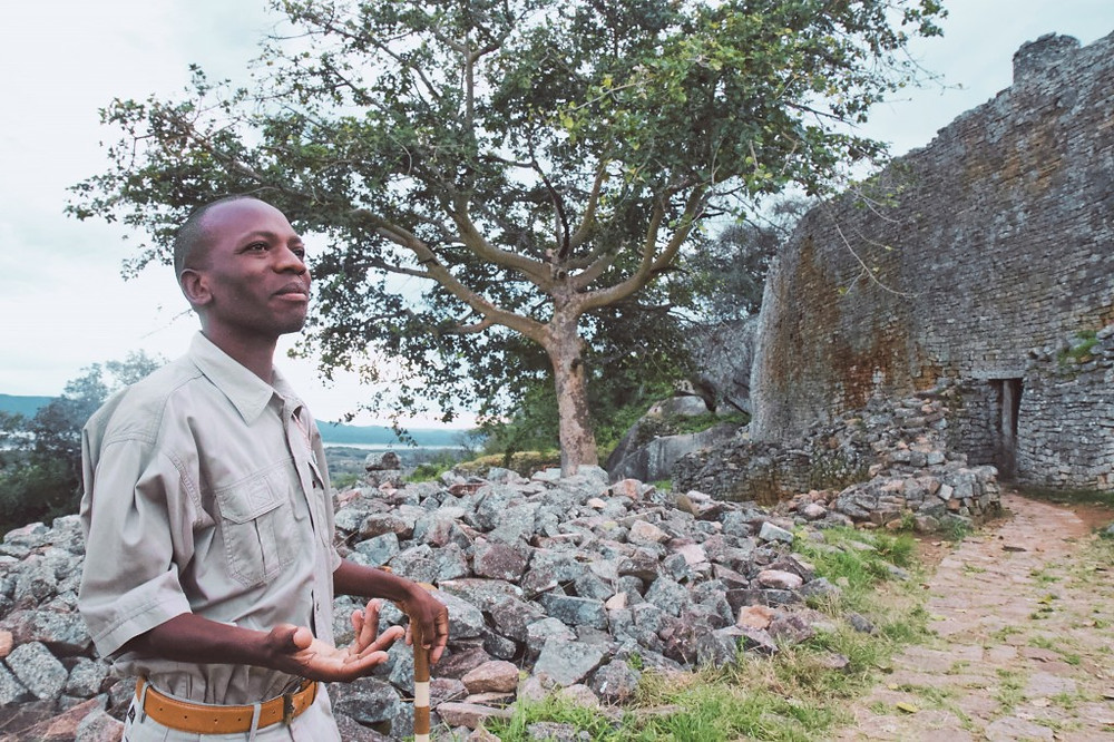 Our guide, Lovemore, in Great Zimbabwe