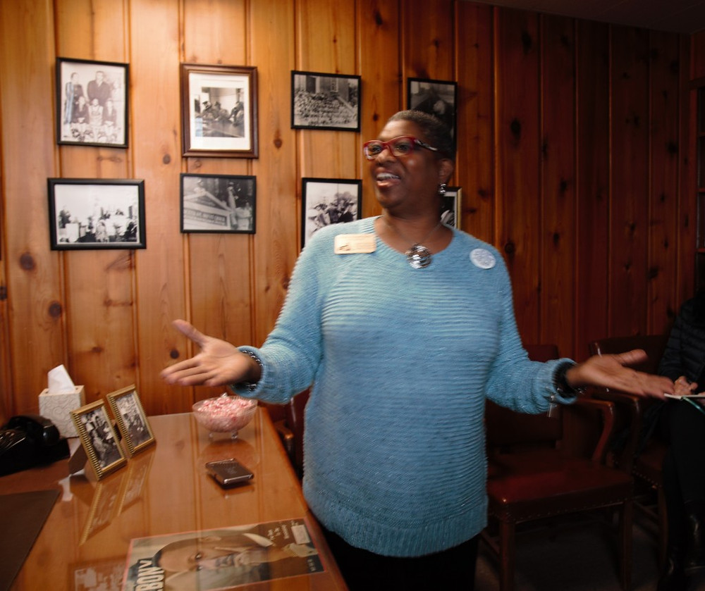 Wanda, our guide at the Dexter Avenue Baptist Church