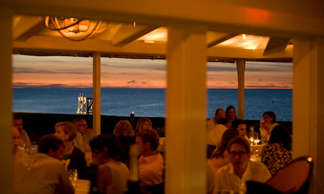 Dining Room at night ©GalleyBeachRestaurant