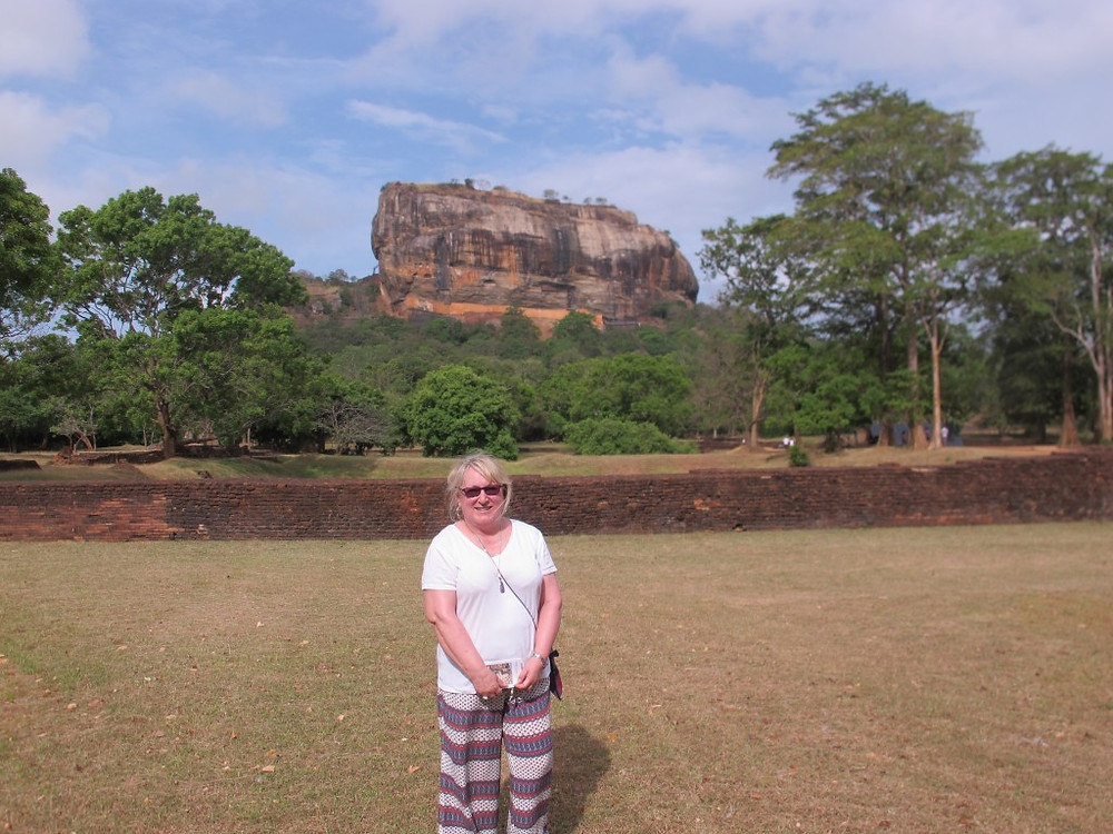 Ready to climb to the top of Sigiriya