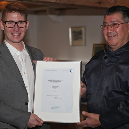 Carsten Egevang awarded Environment and Nature Award