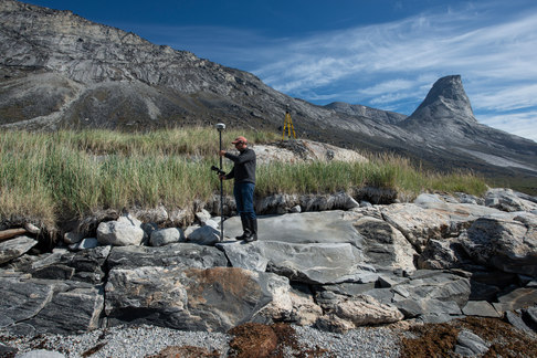 Erosion is quantified near an archaeological sites