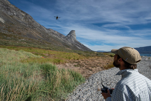 A drone can be useful to discover archaeological sites