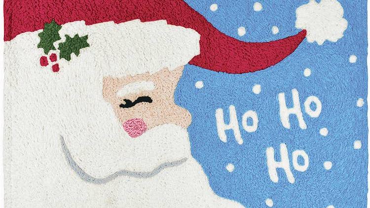 Ho Ho Santa Machine Washable Rug