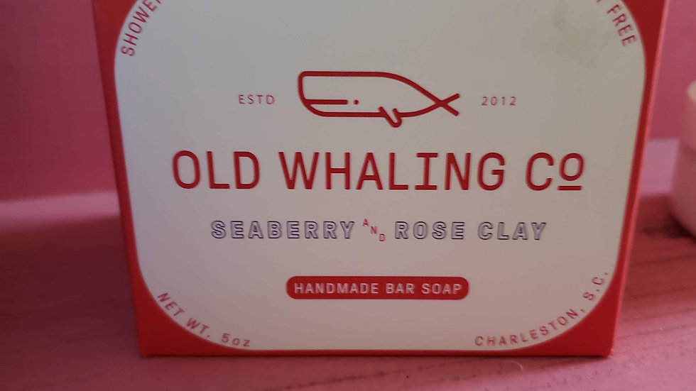 Old Whaling Seaberry & Rose Clay Bar Soap
