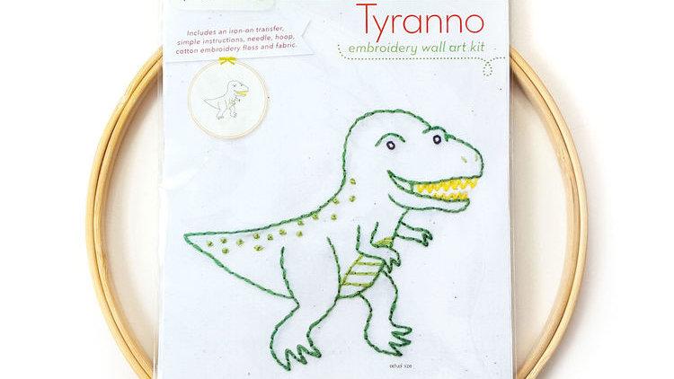 Tyranno Dino Embroidery Wall Art Kit