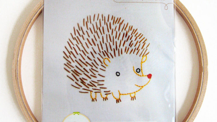 Hedgehog Embroidery Wall Art Kit