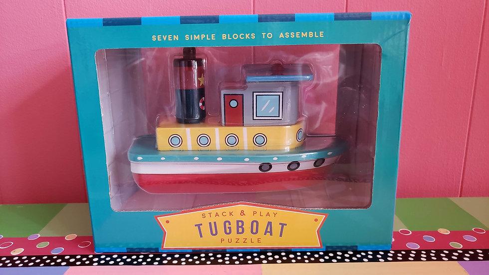 Jack Rabbit Stack & Play Tugboat