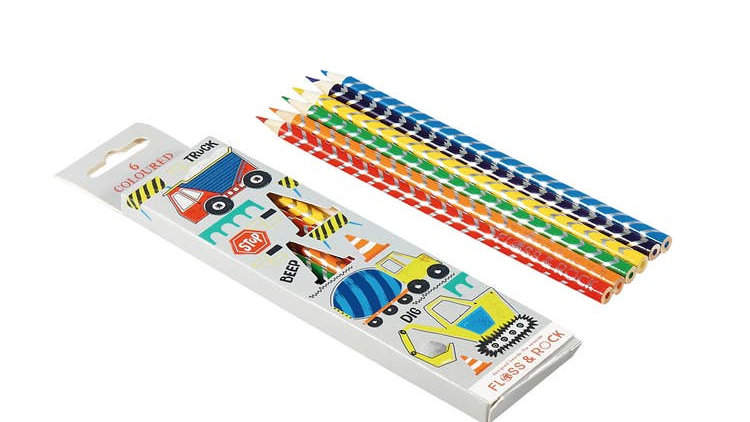 Construction pack of 6 Pencils