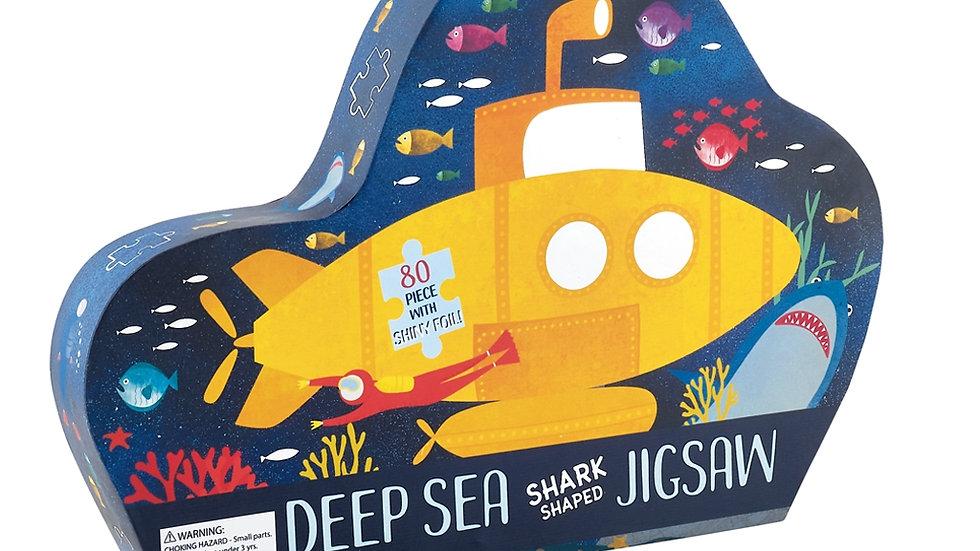 """Deep Sea 80pc """"Shark"""" Shaped Jigsaw with Shaped Box"""