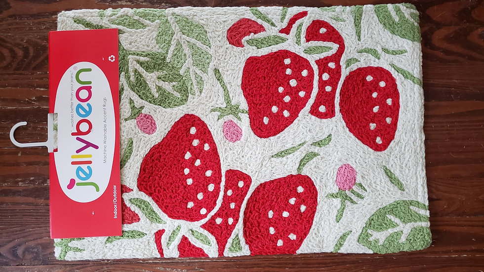 2x3 Washable Rug Strawberries