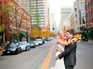 Emily & Bryce's Rooftop Wedding Featured on Style Me Pretty