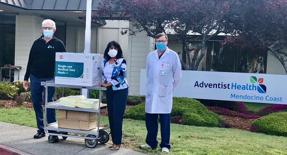 Sharing PPE with Sherwood Oaks nursing home.