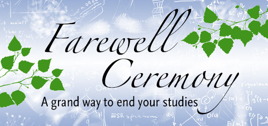 """""""OUR FAREWELL CEREMONY"""" Wednesday Blog"""