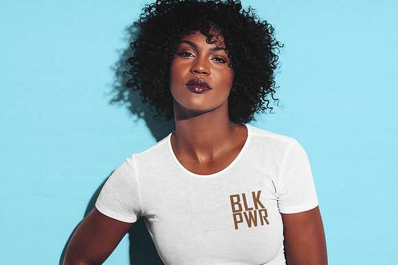 BLK PWR Embroidered Shirt